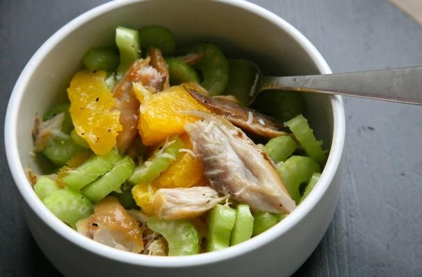 Celery, Orange and Smoked Mackerel Salad