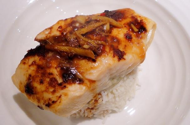 Oven Baked Salmon In Brown Miso