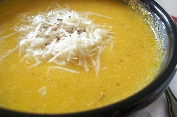 Roasted Garlic & Butternut Parmesan Soup