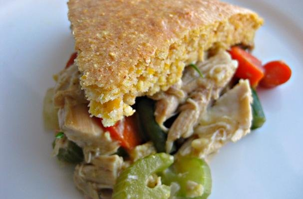 Turkey Pot Pie With Cornbread Crust