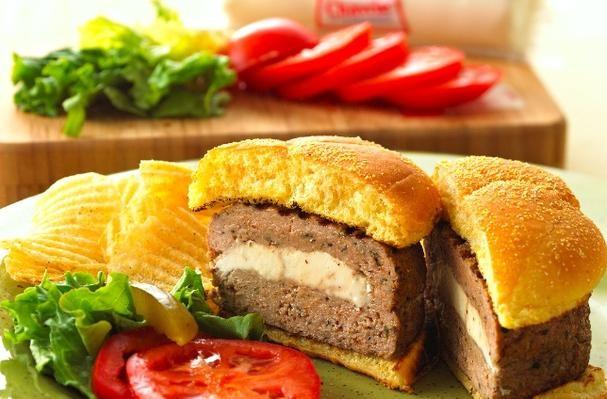 Chavrie Stuffed Turkey Burgers