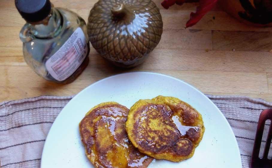 5 Ingredient High Protein Pumpkin Pancakes