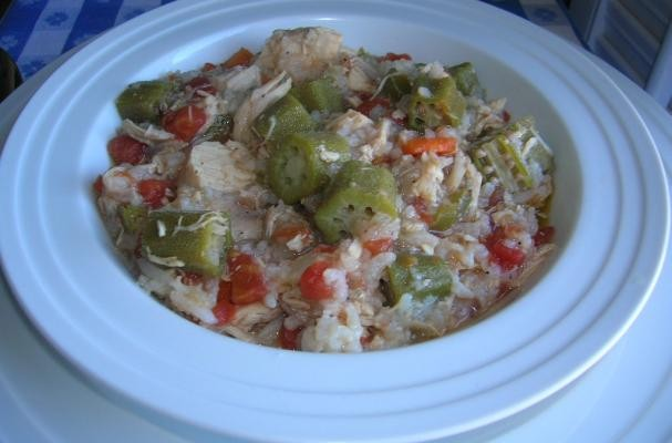 SLOW COOKER CHICKEN GUMBO SOUP
