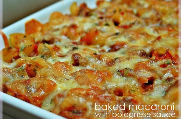 Baked Macaroni With Bolognese Sauce