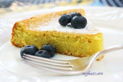 French Style Almond Saffron Cake