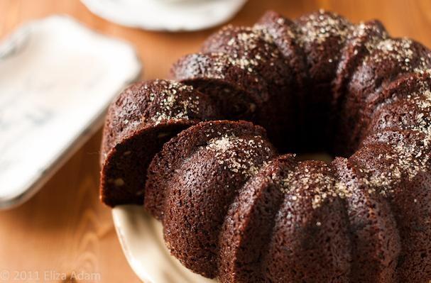 Bittersweet Chocolate-Walnut Bundt Cake