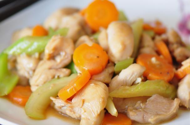 Celery & Carrot Chicken Stir-Fry