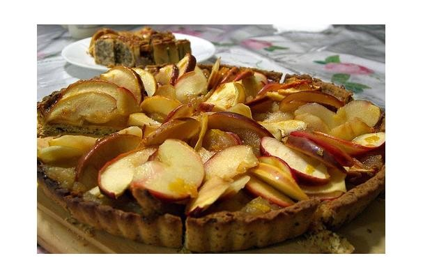Apricot Glazed Apple Tart