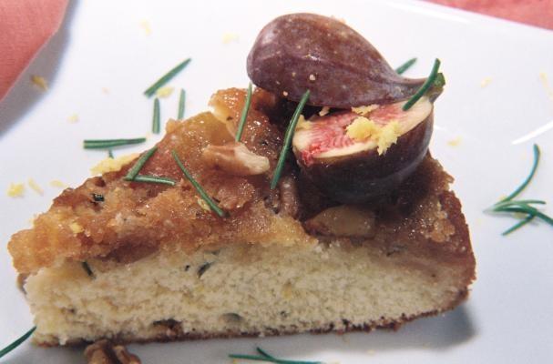Fresh Fig, Walnut, Rosemary Upside Down Cake And A Crisp Citrusy Chardonnay