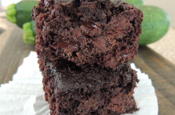 Double Dark Chocolate Zucchini Brownies