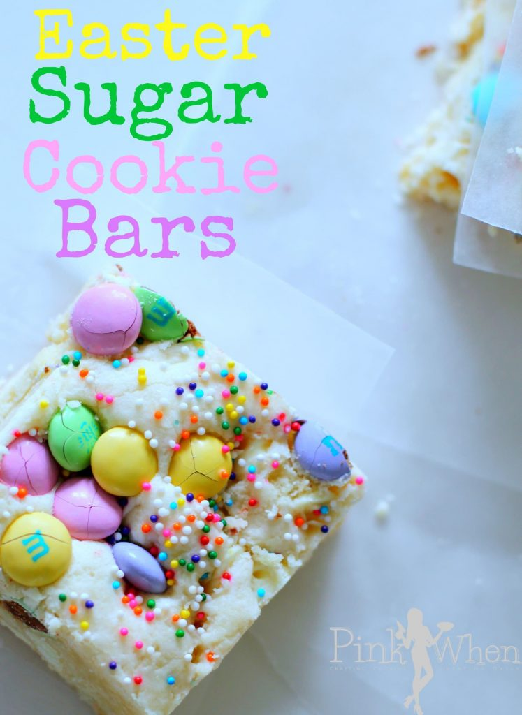 Easter Sugar Cookie Bars