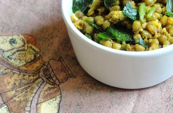 Gujarati Dry Mung Bean Curry