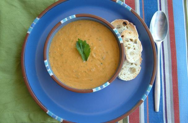 Sweet Pepper and Heirloom Tomato Gazpacho