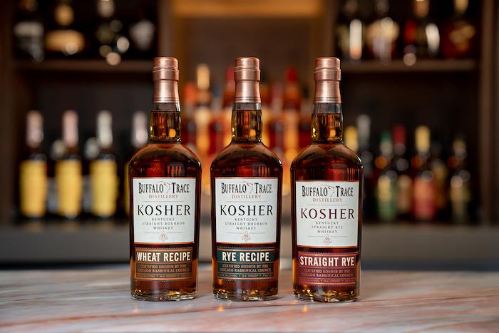 Buffalo Trace Kosher Whiskey range of 3 Bourbon